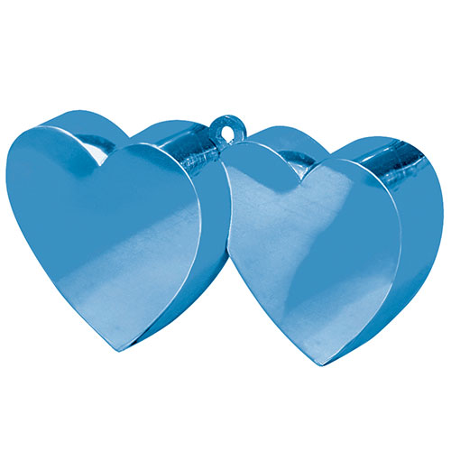 Blue Double Heart Balloon Weight Product Image