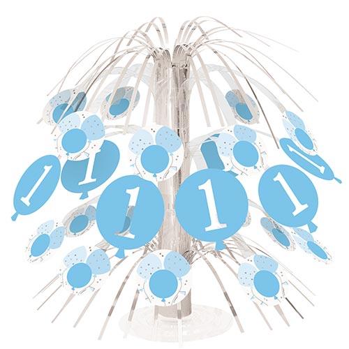 Blue 1st Birthday Cascade Centrepiece Table Decoration 21cm Product Image