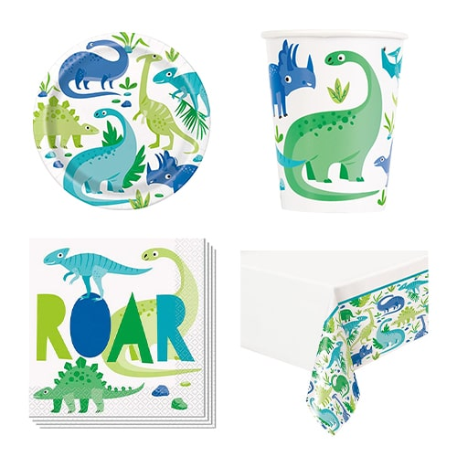 Blue & Green Dinosaur 8 Person Value Party Pack Product Image