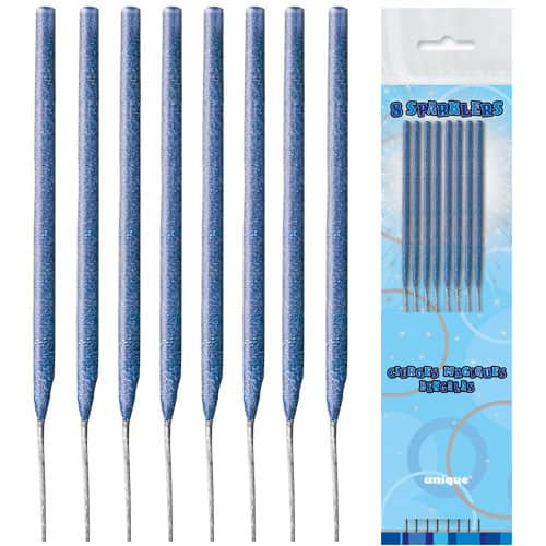 Blue Non Hand Held Sparklers - 16cm - Pack of 8 Product Image