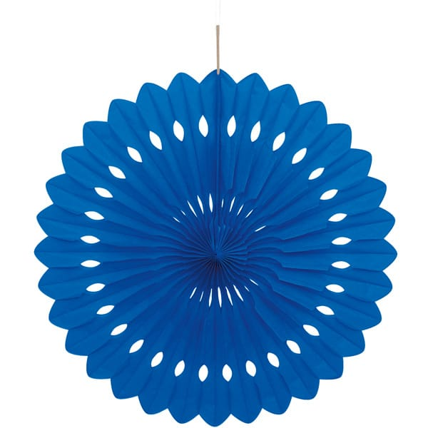 Blue Hanging Decorative Honeycomb Fan 40cm Product Image