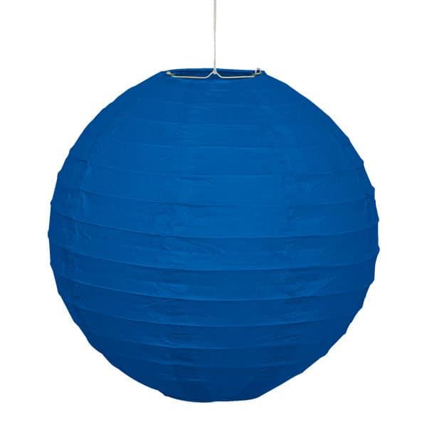 Blue Hanging Round Paper Lantern 25cm Product Image