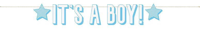 Blue It's a Boy Cardboard Letter Banner 152cm Product Image