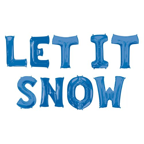 Blue LET IT SNOW Small Air Fill Balloon Kit Product Image