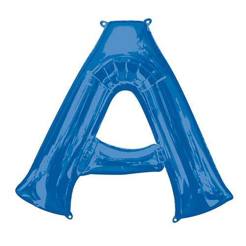 Blue Letter A Air Fill Foil Balloon 40cm / 16 in Product Image