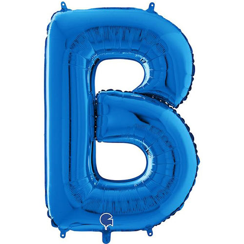 Blue Letter B Helium Foil Giant Balloon 66cm / 26 in Product Image