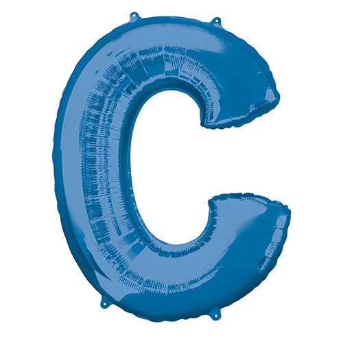 Blue Letter C Air Fill Foil Balloon 40cm / 16 in Product Image