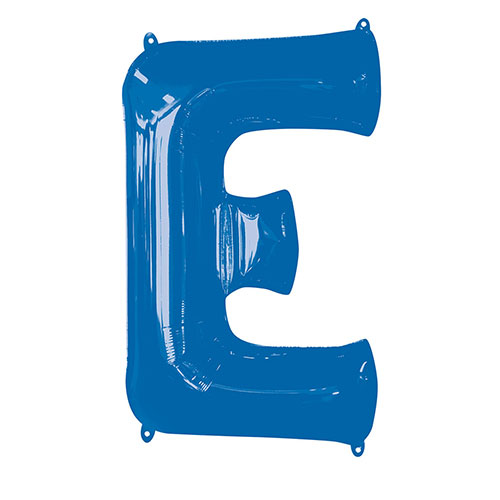 Blue Letter E Air Fill Foil Balloon 40cm / 16 in Product Image