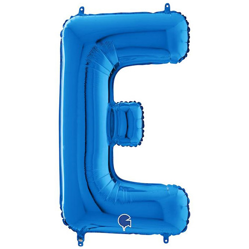 Blue Letter E Helium Foil Giant Balloon 66cm / 26 in Product Image