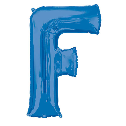 Blue Letter F Air Fill Foil Balloon 40cm / 16 in Product Image
