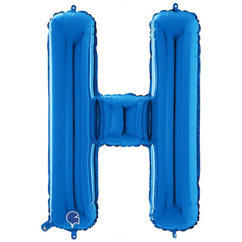 Blue Letter H Helium Foil Giant Balloon 66cm / 26 in Product Image