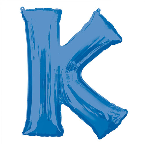Blue Letter K Air Fill Foil Balloon 40cm / 16 in Product Image