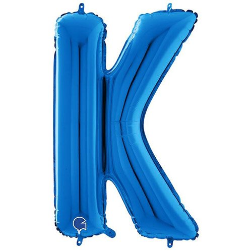 Blue Letter K Helium Foil Giant Balloon 66cm / 26 in Product Image