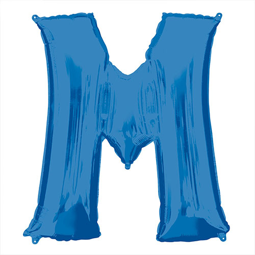 Blue Letter M Air Fill Foil Balloon 40cm / 16 in Product Image