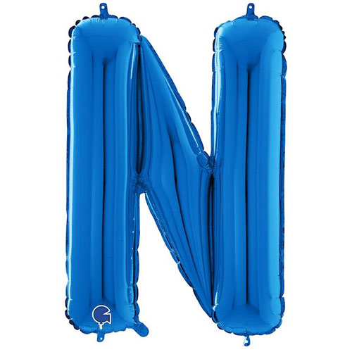 Blue Letter N Helium Foil Giant Balloon 66cm / 26 in Product Image