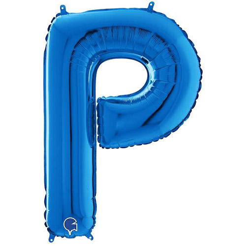 Blue Letter P Helium Foil Giant Balloon 66cm / 26 in Product Image