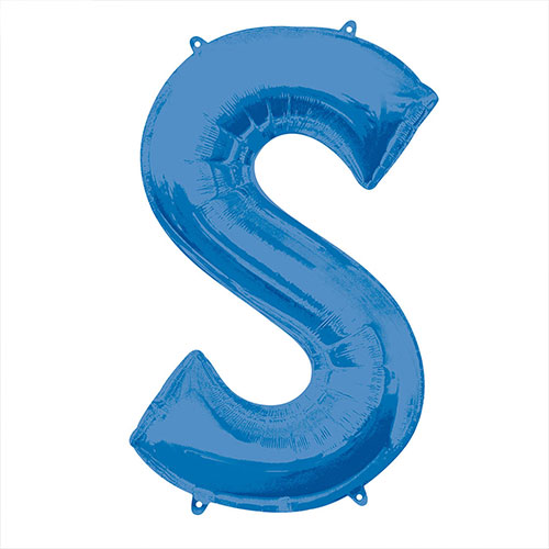 Blue Letter S Air Fill Foil Balloon 40cm / 16 in Bundle Product Image