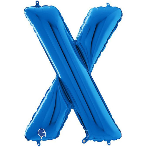 Blue Letter X Helium Foil Giant Balloon 66cm / 26 in Product Image