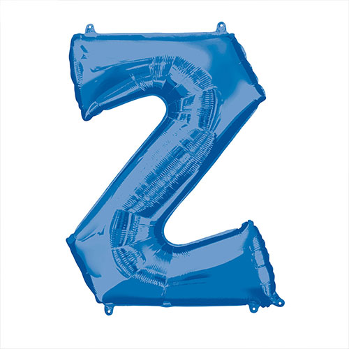 Blue Letter Z Air Fill Foil Balloon 40cm / 16 in Product Image