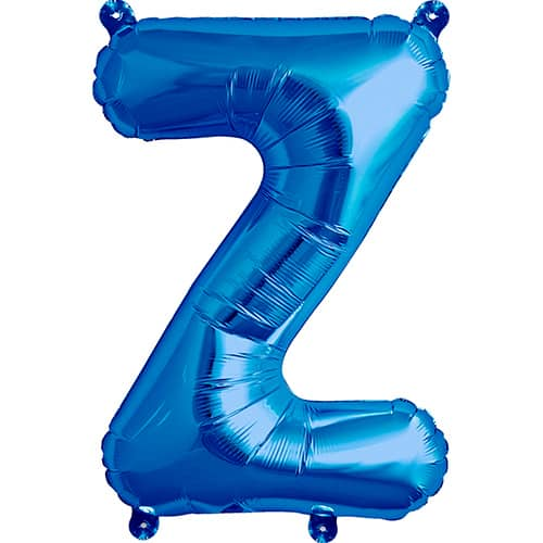Blue Air Fill Foil Balloon Letter Z – 16 Inches / 41cm Product Image