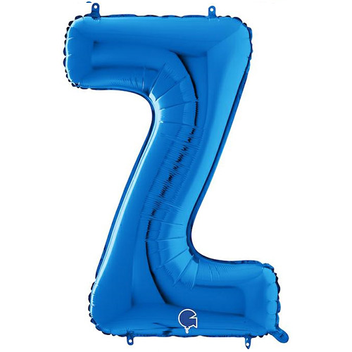 Blue Letter Z Helium Foil Giant Balloon 66cm / 26 in Product Image