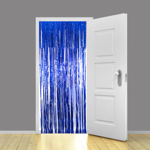 Blue Metallic Shimmer Curtain 92 x 244cm - Pack of 5 Product Image