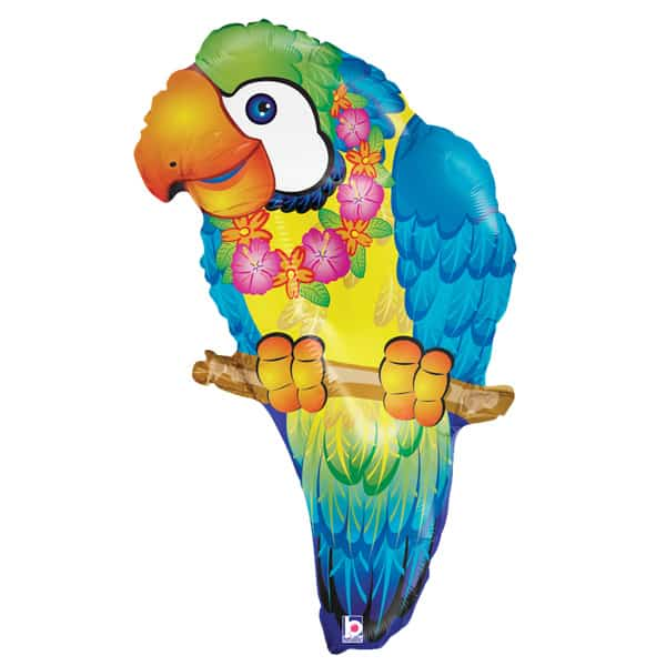 Blue Paradise Tropical Parrot Helium Foil Giant Balloon 74cm / 29 in Product Image
