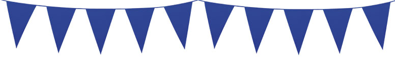 Blue Plastic Pennant Bunting 10m