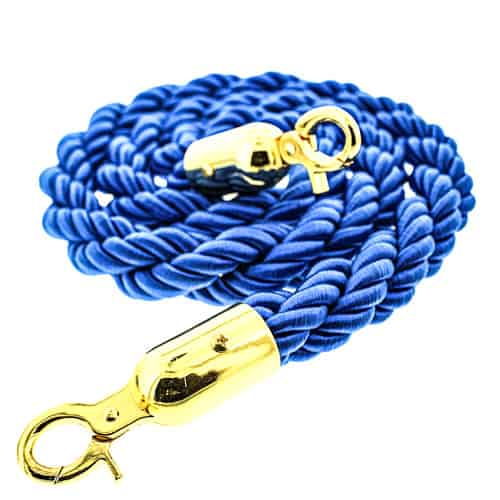 Blue Braided Rope with Brass Hooks Product Image
