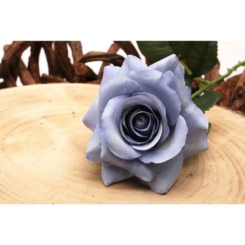 Blue Rose Artificial Silk Flower 42cm