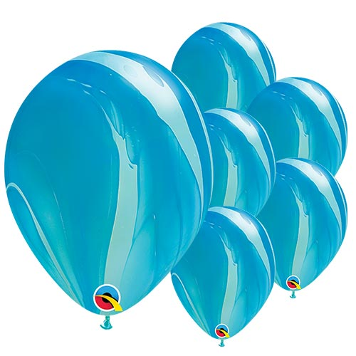Blue SuperAgate Latex Qualatex Balloons 28cm / 11 in - Pack of 25 Product Image