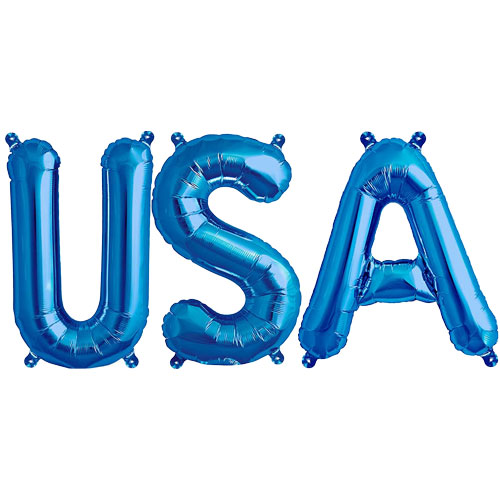 Blue USA Small Air Fill Foil Balloon Kit
