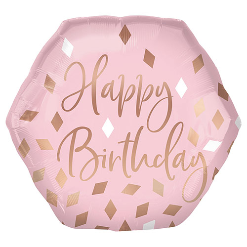 Blush Birthday Helium Foil Giant Balloon 58cm / 23 in Product Image
