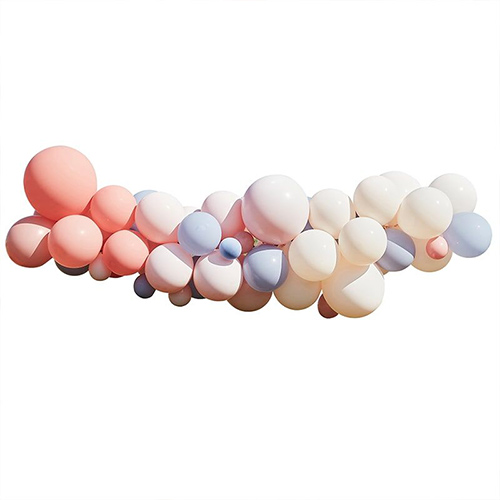 Blush Nude & Blue DIY Garland Balloon Arch Kit Product Gallery Image