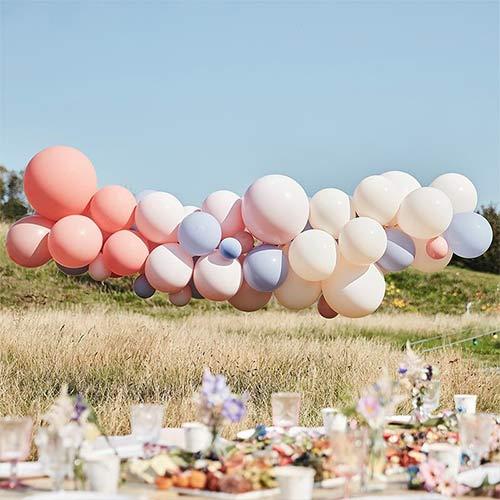 Blush Nude & Blue DIY Garland Balloon Arch Kit