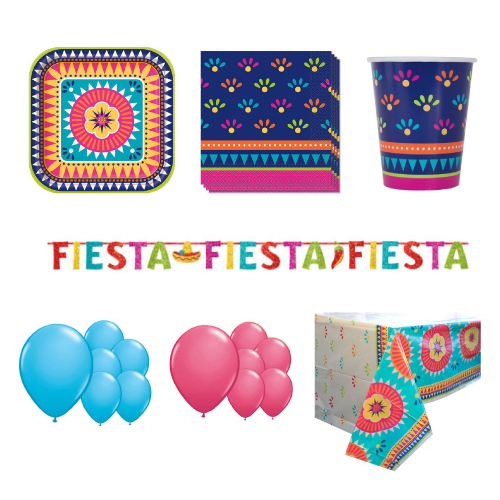 Boho Fiesta 16 Person Deluxe Party Pack