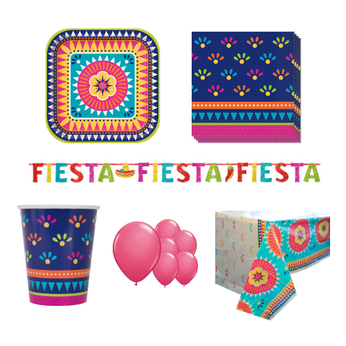 Boho Fiesta 8 Person Deluxe Party Pack