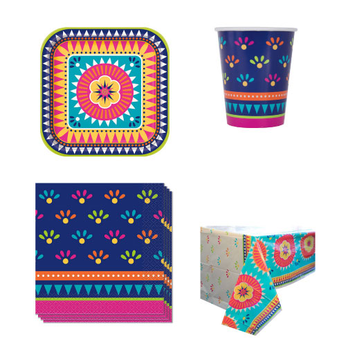 Boho Fiesta 8 Person Value Party Pack
