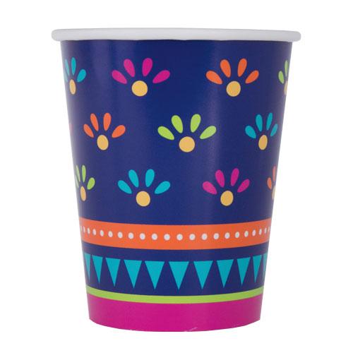Boho Fiesta Paper Cups 270ml - Pack of 8