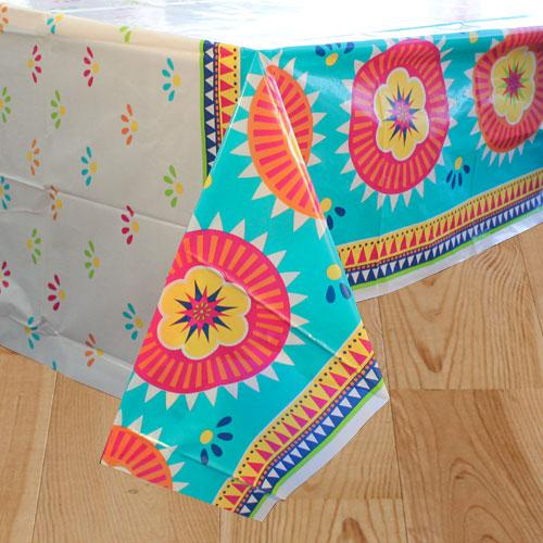 Boho Fiesta Plastic Tablecover 213cm x 137cm Product Image