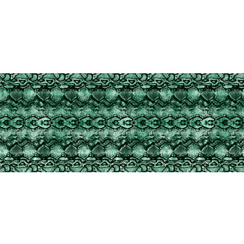Bold Green Snake Animal Print PVC Party Sign Decoration 60cm x 25cm Product Image