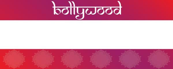 Bollywood Theme Design Medium Personalised Banner - 6ft x 2.25ft