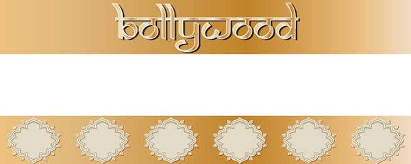 Bollywood Theme Gold Design Medium Personalised Banner - 6ft x 2ft