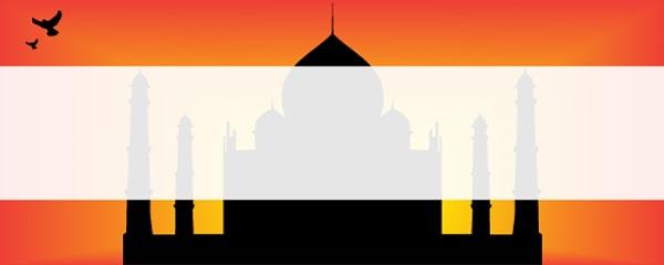 Bollywood Theme Taj Mahal Design Medium Personalised Banner - 6ft x 2.25ft