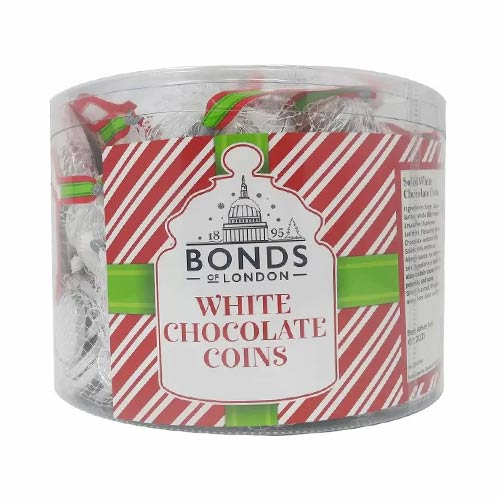 Bonds White Chocolate Silver Coins Vegetarian Sweets - Pack of 60 Product Image