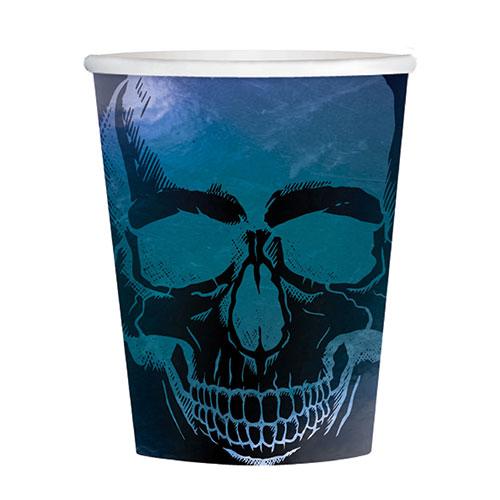 Boneshine Fever Halloween Paper Cups 250ml - Pack of 8
