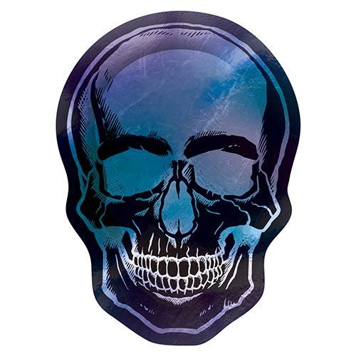 Boneshine Fever Skull Shaped Halloween Paper Plates 26cm - Pack of 8