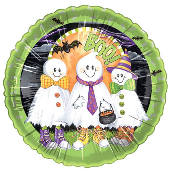 Boo Ghosts Foil Helium Balloon 46cm / 18Inch Product Image