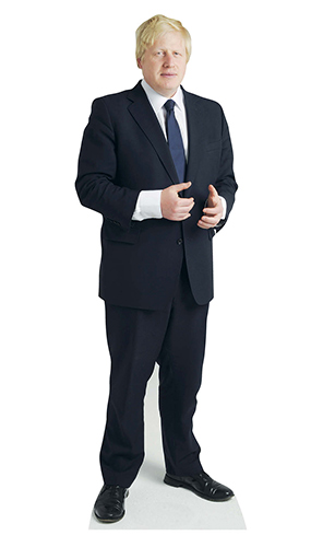 Boris Johnson Mini Cardboard Cutout 89cm