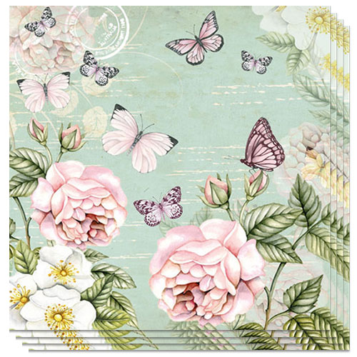 Botanical Green Premium Luncheon Napkins 3Ply 33cm - Pack of 20 Product Image